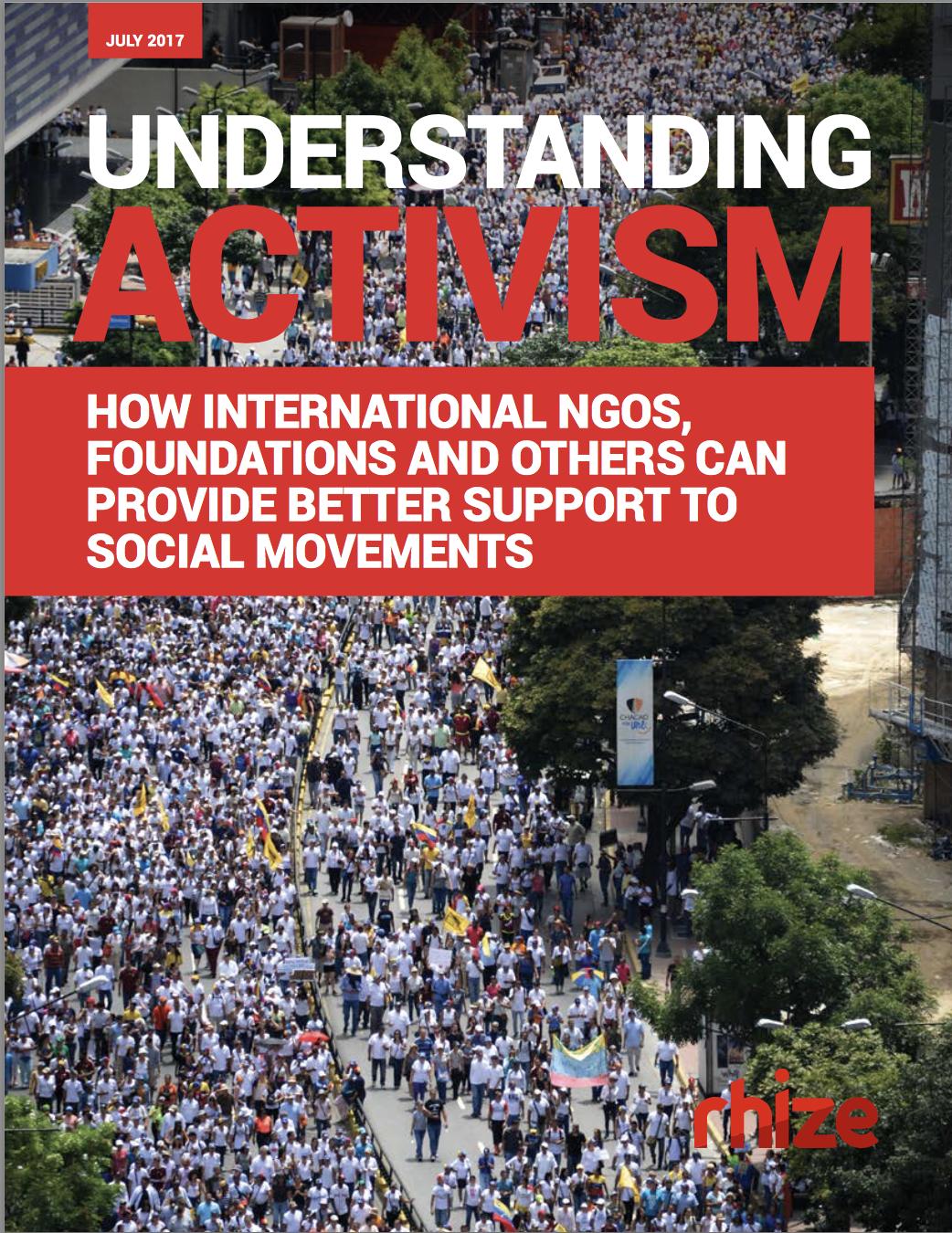 Understanding Activism Report Cover