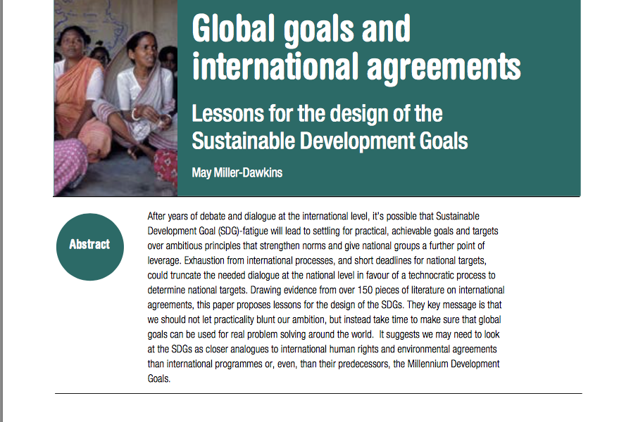 Global Goals and International Agreements